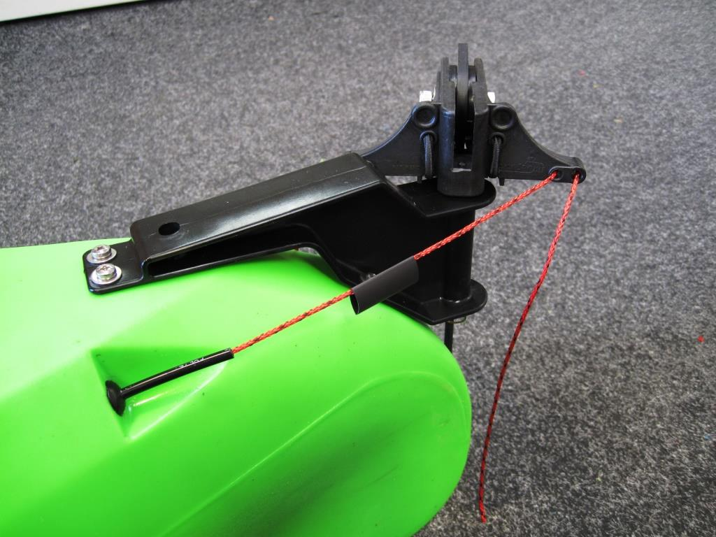 Viking Profish Rudder add heatshrink