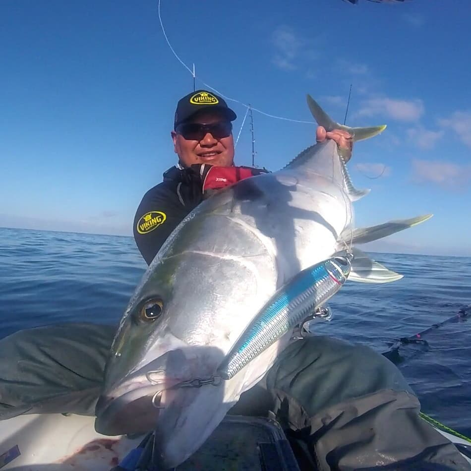 Jason Kemp big kingfish on catch stick bait