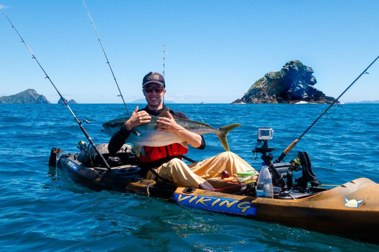 Jigging for Kingfish - Kayak Fishing Northland, New Zealand