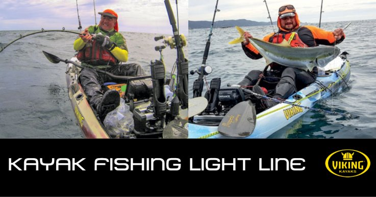 Kayak fishing light line techniques