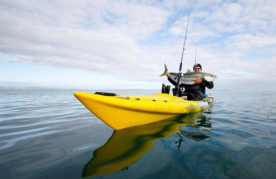 Hooked on kayak fishing with big angry fish